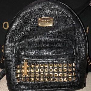 Michael Kors Jet Set Studded Leather Backpack